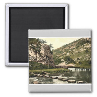 Dovedale, stepping stones, Derbyshire, England cla Magnet