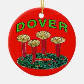Dover Delaware Christmas Tree Christmas Ornament