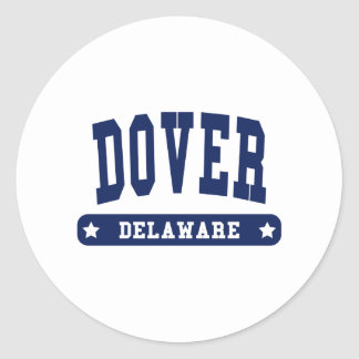 Dover Delaware College Style tee shirts Round Stickers