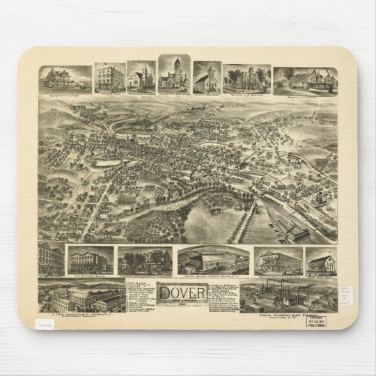 Dover New Jersey (1903) Mouse Mat