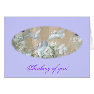 Doves and roses card