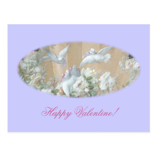 doves and roses postcard