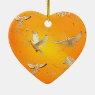 Doves Christmas Ornament