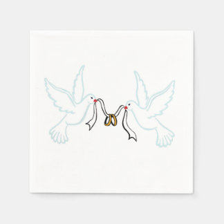 Doves golden Rings Cocktail Paper Napkins Paper Napkin