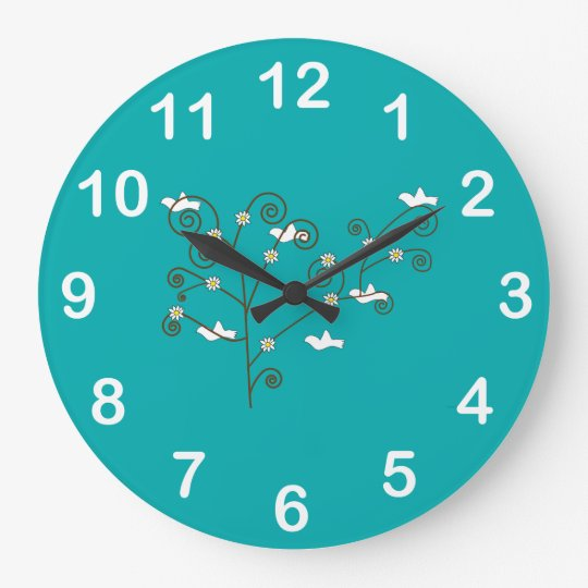 Doves in a Tree Wall Clock