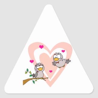 Doves in Love Triangle Sticker