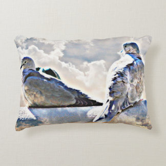 Doves In the Clouds Accent Pillow