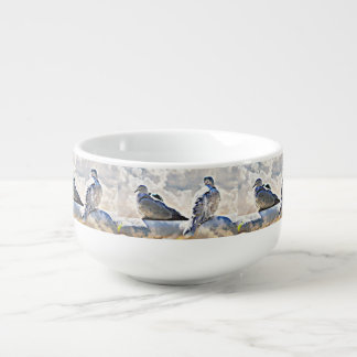Doves In The Clouds Soup Bowl