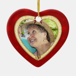 Doves Memorial Heart Custom Photo Ornament