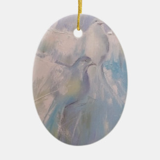 doves of Peace Ceramic Oval Decoration