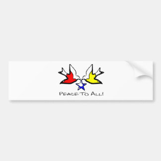 Doves Of Peace - Modern Christian Design Bumper Sticker