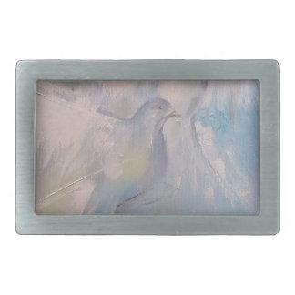 doves of Peace Rectangular Belt Buckle
