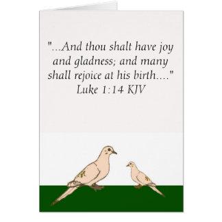 Doves - religious Christmas card
