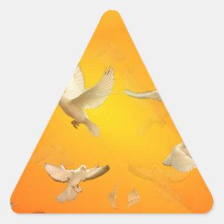 Doves Triangle Sticker