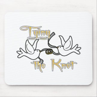 Doves Tying the Knot Wedding Mouse Pad