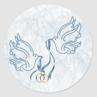 Doves w Wedding Rings Stickers