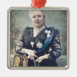 Dowager Empress Frederick of Germany Silver-Colored Square Decoration