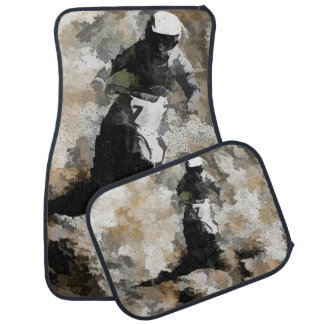 Down and Dirty  -  Motocross Dirt-Bike Racer Car Mat