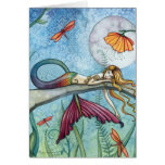 Down by the Pond Mermaid Art Card