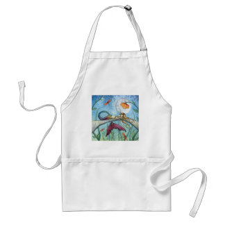 Down by the Pond Mermaid Art Standard Apron