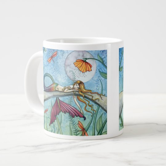 Down by the Pond Mermaid Dragonfly Art Large
