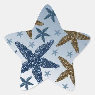 Down by the Sea Starfish Star Sticker