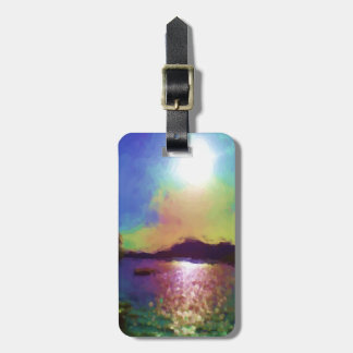Down by the water luggage tag