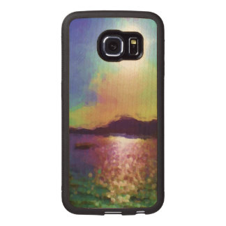 Down by the water wood phone case
