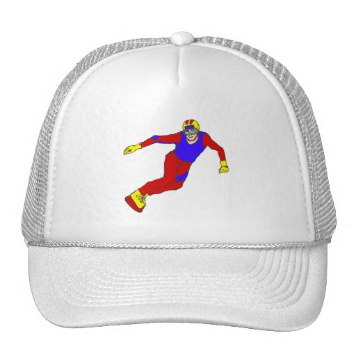 Down Hill Snow Boarder Mesh Hat
