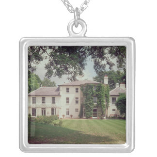 Down House, the home of Charles Darwin Square Pendant Necklace