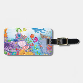 Down In The Ocean Luggage Tag