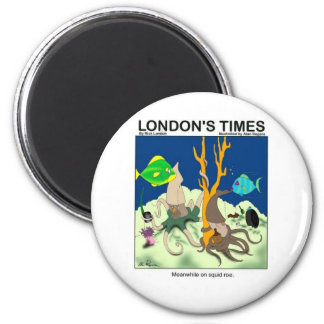 Down On Squid Roe Funny Gifts Tees & Collectibles 6 Cm Round Magnet