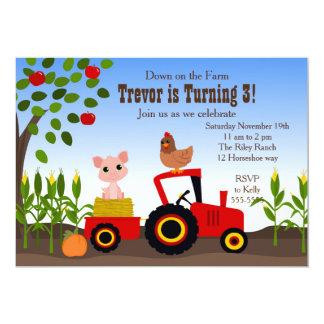 Down on the Farm 13 Cm X 18 Cm Invitation Card