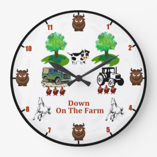 'Down On The Farm' Wall Clock