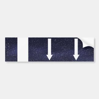 Down Straights Minimal Bumper Sticker