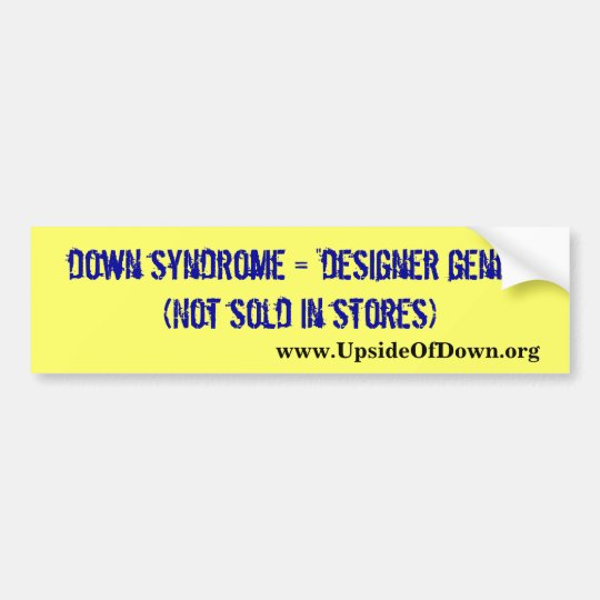 Down syndrome awareness bumper sticker