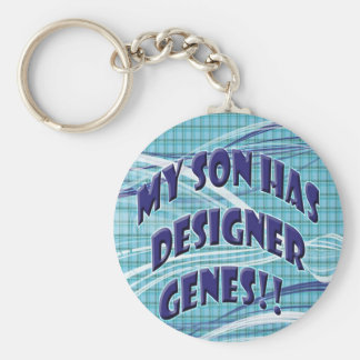 Down Syndrome awareness products Basic Round Button Key Ring