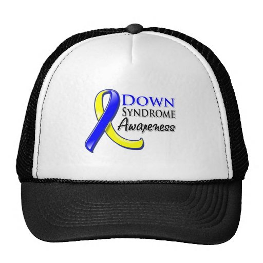 Down Syndrome Awareness Ribbon Mesh Hat