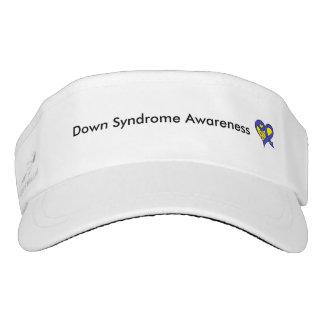Down syndrome awareness visor