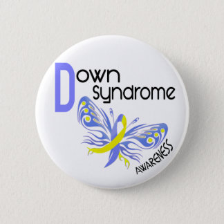 Down Syndrome BUTTERFLY 3.1 6 Cm Round Badge