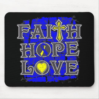 Down Syndrome Faith Hope Love Mouse Pad