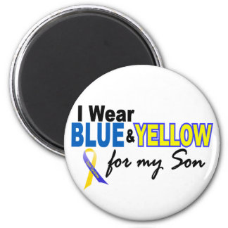 Down Syndrome I Wear Blue & Yellow For My Son 2 6 Cm Round Magnet