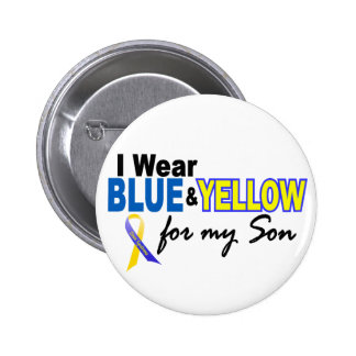 Down Syndrome I Wear Blue Yellow For My Son 2 Pins