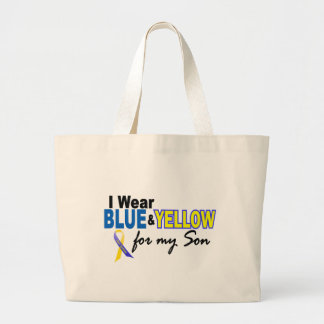 Down Syndrome I Wear Blue & Yellow For My Son 2 Canvas Bag