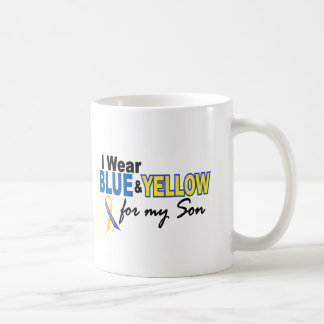 Down Syndrome I Wear Blue & Yellow For My Son 2 Basic White Mug