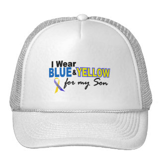 Down Syndrome I Wear Blue Yellow For My Son 2 Trucker Hats