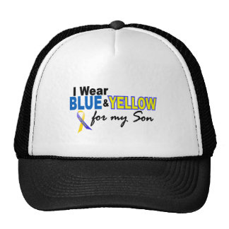 Down Syndrome I Wear Blue & Yellow For My Son 2 Hats