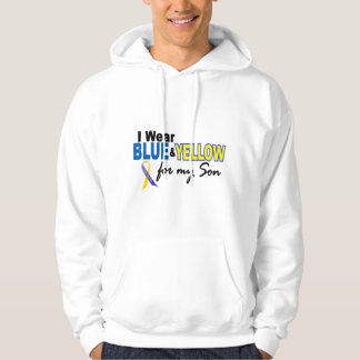 Down Syndrome I Wear Blue & Yellow For My Son 2 Hoodie