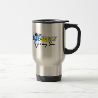 Down Syndrome I Wear Blue & Yellow For My Son 2 Stainless Steel Travel Mug