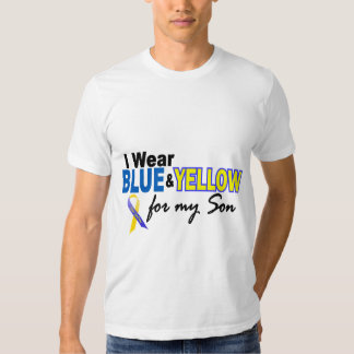 Down Syndrome I Wear Blue & Yellow For My Son 2 Tee Shirts